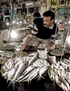 Fish market at Lake Market, South Calcutta, India  Expo2015 WorldsFair Milano FoodMarkets