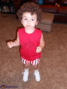 Richard Simmons @Melissa Powers  I saw this and thought of your daughters with their awesome curly hair.  So cute!