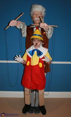 Pinocchio and Gepetto - Homemade Halloween Costume