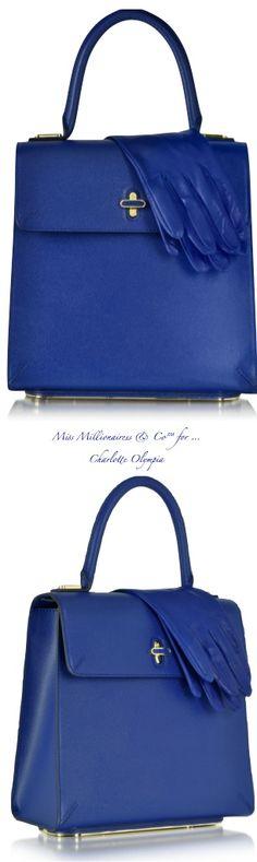 Charlotte Olympia ~ Bogart Cobalt Blue Handbag 2015