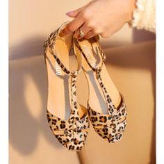 Online Shop Leopard Print Flat Heel Women's Sandals 2014 Summer Women Summer Shoes 2014 Summer Shoes Fashion Sandals Sweet Free Shipping|Aliexpress Mobile