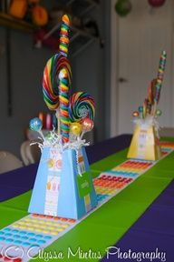 Candyland Table decorations