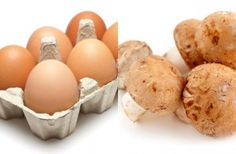 1x medium egg: 78 calories100g fresh mushrooms chopped: 13 calories Total calories = 91 Scrambled egg is ideal for breakfast as the protein in the egg will keep you full until lunch time - just avoid adding milk and butter and make with only one egg. Mixed with a handful of fresh mushrooms, this combo gives the eggs more texture and flavour and bulks it out a bit - plus it counts towards your 5-a-day.
