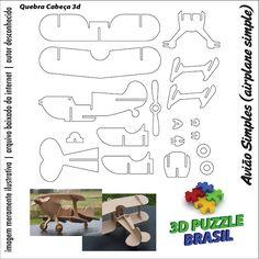 Arquivos para Download - CNC/Laser: 3D Puzzle Brasil - 01 Wooden Crafts, Diy And Crafts, Paper Crafts, Cnc Laser, Wood Projects, Woodworking Projects, 3d Puzzel, Gravure Laser, Wood Toys Plans