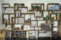 Ark-studio-Pet-Hospital-5.  Love this shelving unit to display food and other retail items!