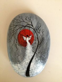 Painted rock / stone - angel or bird? Painted rock / stone - angel or bird? Painted rock / stone - angel or bird? Painted rock / stone - angel or bird? Pebble Painting, Pebble Art, Stone Painting, Body Painting, Rock Painting Ideas Easy, Rock Painting Designs, Stone Crafts, Rock Crafts, Art Rupestre
