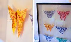 J'aime bien les boites à papillon mais, par contre, je n'aime pas du tout l'idée de sacrifier ces créatures que j'ai longtemps pensé magiques. Mais comment créer une boite à papillons sans papillon ? En créant un succédané origamique !