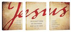 Jesus Triptych Canvas Print - Church Wall Art - Outreach Marketing