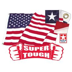 5ft x 8ft Super Tough Brand Polyester US Flag Made in the USA
