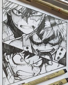 55 Manga And Anime Drawing Styles - Hero Academia Characters, My Hero Academia Manga, Anime Characters, Anime Character Drawing, Anime Drawing Styles, Boca Anime, Manga Drawing Tutorials, Japanese Anime Series, Anime Sketch
