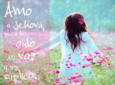 Amo a Jehová, pues ha oído Mi Voz y Mis Súplicas!!  Salmos 116:1  Qué Bueno y Fiel es Dios a Sus Promesas, Nunca Falla!