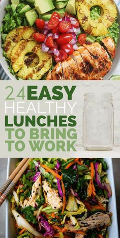 Easy Healthy Lunches for Work . 20 Best Ideas Easy Healthy Lunches for Work . 24 Easy Healthy Lunches to Bring to Work In 2015 Lunch Snacks, Lunch Recipes, Healthy Snacks, Healthy Eating, Cooking Recipes, Healthy Lunches For Work, Salad Recipes Healthy Lunch, Quick Healthy Lunch, Easy Clean Eating Recipes