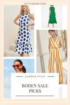 The Boden sale is on! Here are some of my favourite picks from the sale, including some pieces that I own and love! Plus, there's my 20% code that you can use outside the sale and for free delivery!   #summeroutfits #sales #summersyle #outfitinspiration