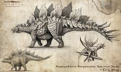 Hyperendocrin Stegosaurus by EmilyStepp