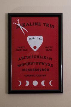 Alkaline Trio Red Ouija Board 11x17 Poster