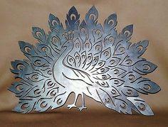 Highly Detailed Peacock Plasma Cut Metal Wall Art Hanging Home Decor