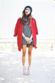 Stripes, Red & Gladiator Sandals