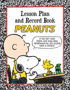 Peanuts Lesson Plan And Record Book by Eureka $10.99