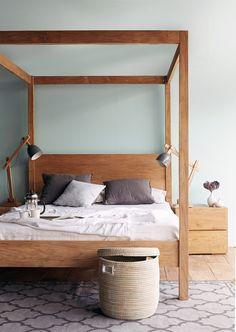 Originals Furniture - Mera Poster Bed #Bedroom #Decor #Styling #Natural #Teak