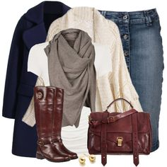 A fashion look from December 2014 featuring Linea t-shirts, 7 For All Mankind skirts and Tory Burch boots. Browse and shop related looks.