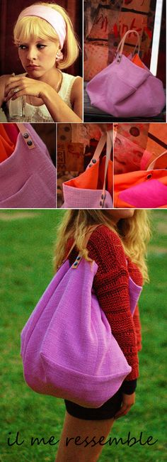 borsone rosa base quadra