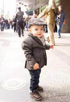 newsboy caps, blazer and layers  too cute!