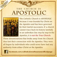 10 FEBRUARY 2014 - If a church cannot trace back its history lawfully in an unbroken line step by step to the Apostles, it is not the True Church founded by Jesus Christ: —