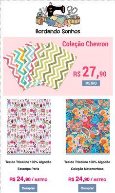 Valorize suas peças com tecidos da Bordando Sonhos Mil Coisas(dentro do Mercado Municipal de Curitiba) Ou acesse:  Fazemos entrega para todo o Brasil.