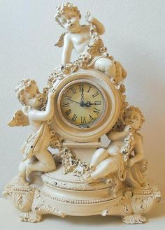 Image detail for -Stepping Back In Time With Shabby Chic Vintage Clock * just bought this Clock, gorgeous! Mantel Clocks, Old Clocks, Antique Clocks, Antique Watches, Shabby Chic Clock, Shabby Chic Cottage, Shabby Chic Decor, Statue Ange, Clock Vintage