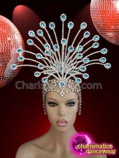 Stunning-Egyptian-style-iridescent-silver-crystal-setting-glamour-diva-headdress