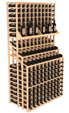 Introducing commercial wine racks designed to help wine shops sell more wine. Wine Rack Design, Wine Cellar Design, Wine Shelves, Wine Storage, Wine Shop Interior, Wooden Wine Crates, Wine Bottle Display, Wine Cellar Racks, Wine Racks