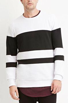 Textured-Colorblock Sweatshirt