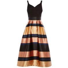 110f8f61257 Buy Coast Rita Metallic Stripe Dress, Gold from our Women's Dresses range  at John Lewis & Partners.