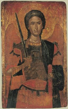 arc michele Byzantine Icons, Byzantine Art, Religious Icons, Religious Art, Angelic Symbols, Art Timeline, Paint Icon, Angel Warrior, Archangel Michael