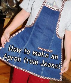 Making an apron (TUTORIAL) from the leg of an old pair of jeans!