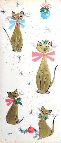 Imágenes de postales navideñas de mi infancia....