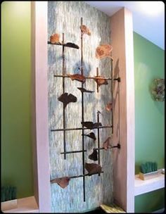 "When the producers of the HGTV show, ""Meg's Great Rooms"" contacted me about being featured in one of their episodes, I, of course, said yes. They were great and it was a lot of fun! #HGTV #featurewall #steel #metal #accentpiece #custom #shinymetalobjects #riggodesign www.riggodesign.com"