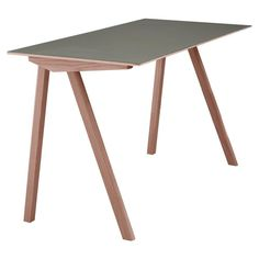The Copenhague Desk was designed in the year 2013 by the brothers Erwan & Ronan Bouroullec for HAY. The Copenhague Desk is part of the Copenhague c Ronan & Erwan Bouroullec, Writing Table, Kartell, Bespoke Furniture, Oakwood Furniture, Drafting Desk, Decoration, Office Decor, Interior