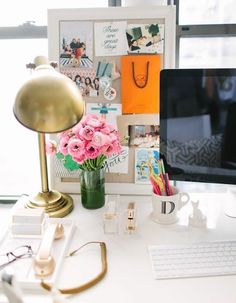 Keep your workspace organized with a bulletin board.