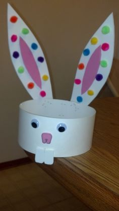 Rabbit #EasterBonnet. Great project to do with the kids on a rainy afternoon