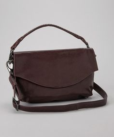 Take a look at this Aubergine Lotte Shoulder Bag by Latico Leather on #zulily today!