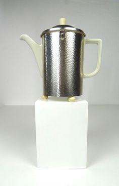 ORIGINAL WMF BAUHAUS DESIGN ART DECO COFFEE POT CHROMED 1930s VINTAGE