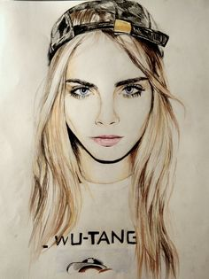 peruvian-diego:  savanier:  spring-e:  savanier:  nearly finishedcara delevingne drawing woo  I'm so jealous of your talent omg I can't even!  haha aw  HOLY SHIT