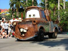 a suitcase and a dream Cement Mixer Truck, Tow Mater, Strange Cars, Equipment Trailers, Car Carrier, Old Fords, Movie Props, Tow Truck, Disney Cars