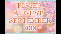 PISCES LOVE AUGUST + SEPTEMBER TAROT READING 2018! Pisces Love, Leo Love, Tarot Horoscope, Love Tarot Reading, Horoscopes, Zodiac Signs, September, Neon Signs, Youtube