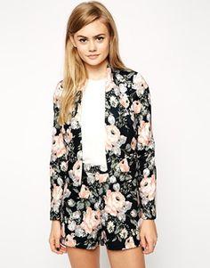 ASOS Jacket in Dark Printed Floral