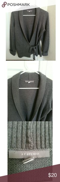 SALE! 100% Merino Wool Cardigan This is a chic cardigan from At Studio. You can tie this cardigan in the front.This cardigan is very comfortable and is perfect for Autumn/Winter. This item is in great condition! Material: 100% Extrafine Merino Wool  // This item is currently on sale ! // // No Trades.// // Please don\'t advertise your closet. // At Studio Sweaters Cardigans