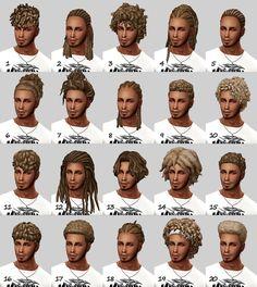 Ben Dyson (NBHT) male & unisex curls, dreads & braids by Sims Four, Sims 4 Mm Cc, My Sims, Sims 4 Hair Male, Sims 4 Black Hair, Male Hair, Sims 4 Game Mods, Sims Games, Dreads