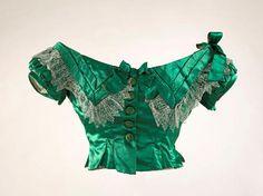 """""""Evening dress bodice, ca. 1867.Musée Galliera de Paris."""""""