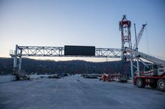 November 28, 2016 - The new bridge's overhead displays will help inform drivers of blocked lanes to keep traffic moving efficiently and safely.